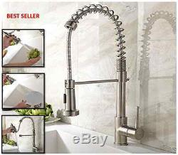 Commercial Swivel Pull Down Spray Sink Faucet Kitchen Mixer Restaurant Bar Dish