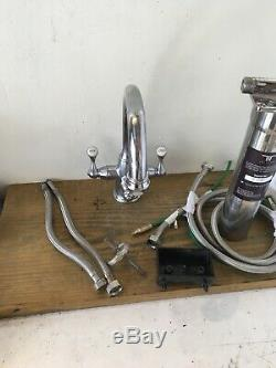 Complete Set Perrin & Rowe Chrome Filter Taps Ideal For Belfast Kitchen Sink T45