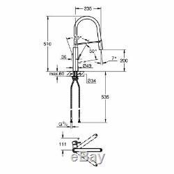 Concetto Kitchen Sink Mixer C-Spout Single-Lever Mixer Tap in Super Steel