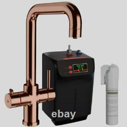 Copper Instant Boiling Water Dispenser Tap 3 in 1 Kitchen Faucet Hot & Cold