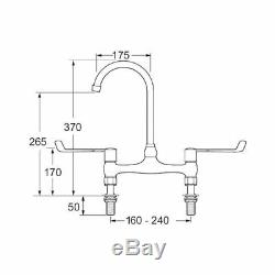 Deva DLV305B 6 Lever Action Bridge Kitchen Sink Mixer Tap Utility Commercial cp