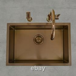 ENKI BST016 Kitchen Sink Tap Set Undermount Inset Overflow Rose Gold Spray Mixer