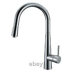 ENKI KT027 Modern Pull Out Kitchen Sink Mixer Tap Faucet Designer Chrome SOFIA