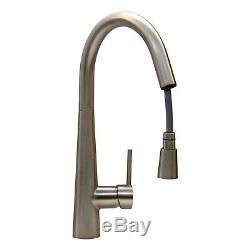 ENKI KT068 Contemporary Pull Out Kitchen Sink Mixer Tap Brushed Nickel URBAN