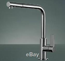 Franke Neptune Chrome Kitchen Sink Modern Mixer Tap Single Lever Pull Out Spray