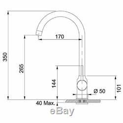 Franke Pola Graphite Swivel Spout Kitchen Sink Modern Mixer Tap Single Lever