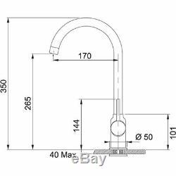 Franke Pola Onyx Black Single Lever Kitchen Sink Mixer Tap