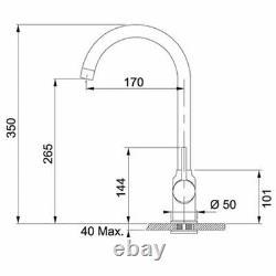 Franke Pola Stone Grey Swivel Spout Kitchen Sink Modern Mixer Tap Single Lever