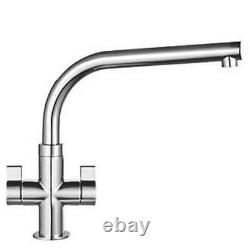 Franke Sion Dual-lever Mono Mixer Kitchen Tap Chrome 115.0250.638