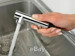 Franke Sirius Side Single Lever Kitchen Sink Modern Mixer Tap Pull-out Onyx
