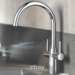 GROHE Ambi Monobloc Two Handle Kitchen Sink Mono Mixer Tap Swivel Spout