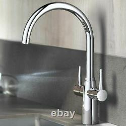 GROHE Ambi Monobloc Two Handle Kitchen Sink Mono Mixer Tap Swivel Spout New