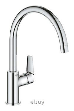 GROHE BAUEDGE 31367001 Swivel High Spout Kitchen Sink Mixer Tap Single Lever