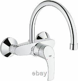 GROHE Eurosmart kitchen sink Single-Lever Mixer Tap High Spout Wall mount chrome