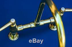 Genuine Shanks surgeon lever mixer tap brass belfast sink hospital faucet