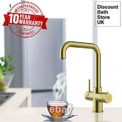 Gold 3 Way Instant Boiling Water Kitchen Tap Water Filter & Digital Heating Tank