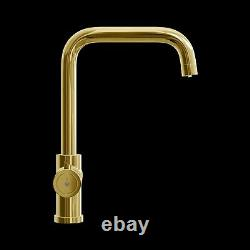 Gold Instant Boiling Water Dispenser Tap 3 in 1 Kitchen Faucet Hot & Cold