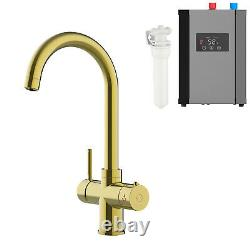 Gold Instant Hot Boiling Water Tap 3 Way Water Filter & Digital Heating Unit