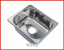 Grand Taps Small Steel Inset Single Bowl Kitchen Sink A11 mr