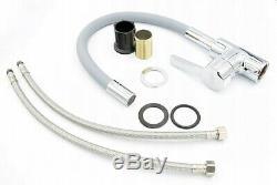 Grey Kitchen Mixer Flex Tap sink Faucet Swivel flexible spout 360 Brass (158)