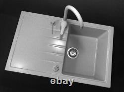 Grey Modern Kitchen Mixer Tap Faucet Swivel spout 360`Sink Basin (170)
