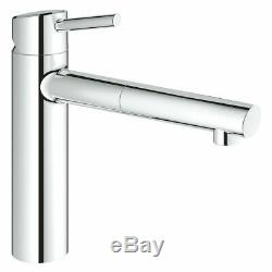 Grohe 31129001 Concetto Single-lever Sink Mixer Tap, Pull-down Spray Head NEW