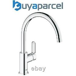 Grohe 31367 BauEdge Chrome Single Lever Kitchen Sink Mixer Tap Swivel High Spout