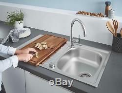 Grohe BAU EDGE Modern Kitchen Faucet C-Spout Kitchen Sink Mixer 31367000