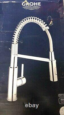 Grohe Get Single-lever Kitchen Tap With Professional Spray Chrome 30 360 000