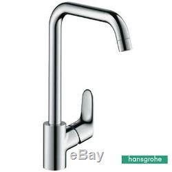 Hansgrohe Focus Chrome Low Pressure Swivel Spout Kitchen Sink Mixer Tap 31822000
