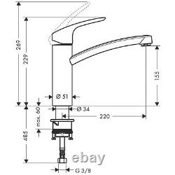 Hansgrohe Focus E2 Single Lever Kitchen Swivel Spout 360° Mixer Tap 31806000