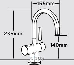 InSinkErator HC3300 Boiling Hot & Filtered Cold Water Kitchen Tap Only Brushed