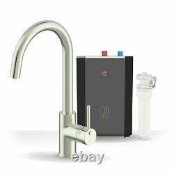 Intu 3in1 Instant Boiling Water Kitchen Tap Tank Filter Hot Cold Brushed Nickel