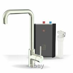 Intu 3in1 Instant Boiling Water Kitchen Tap Tank Filter Hot Cold Brushed Square