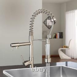 Kitchen 360° Swivel Spout Single Handle Sink Faucet Pull Down Spray Mixer Taps