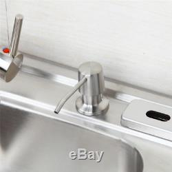 Kitchen Mixer Faucet Brushed Nickel 2 Sink Soap Dispenser With All Part Set