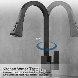Kitchen Sink 360° Swivel Faucet with Pull out Sprayer Mixer Water Tap Copper