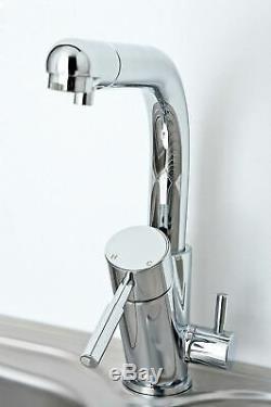 Kitchen Sink Mixer Tap Lever Drinking Water Filter Taps Set Chrome Deva Stream