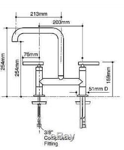 Kohler 7547-4-cp Purist Bridge Kitchen Mixer Sink Tap Chrome Finish