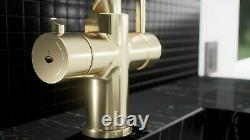 Lavatap 3-in-1 Instant Hot Water Kitchen Tap Polished Gold Finish Bnwt