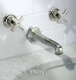 Lefroy Brooks 1930 Mackintosh Wall 3 holes Washbasin Mixer MH1200 Faucet