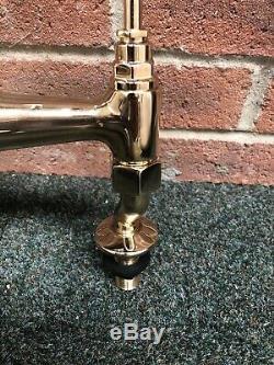 Lefroy Brooks Antique Gold Brass Kitchen Bridge Sink Mixer Ideal Belfast LB1517