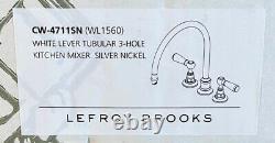 Lefroy Brooks CW-4711SN (WL 1560) White Lever Tubular 3-hole Kitchen Mixer