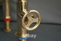 Lefroy Brooks Ten Ten Handwheel Mixer Taps Ideal 4 Kitchen Sink Industrial, New