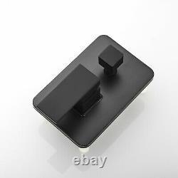 Matte Black Shower Faucet 8 inch LED Rainfall Shower Head Hand Shower Mixer