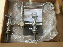 NEW Bristan- Colonial Bridge Kitchen Sink Mixer Tap- Crome K-BRSNK