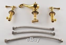 NEW Unique Magic Lamp Bathroom Sink Faucets Brass Hot&Cold Mixer Taps 2 handles