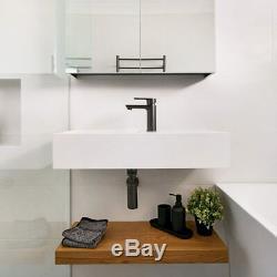 New Brushed Gunmetal KITCHEN Sink Basin TAP MIXER Short Tapware