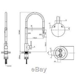 New Kitchen Tap Sink Mixer Chrome Taps Castano Belluci BELSISS with Silicon Hose