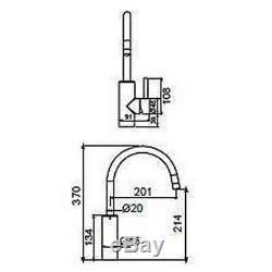 New Methven Flexispray Medea Gooseneck Sink Mixer Tap Chrome 06-5332